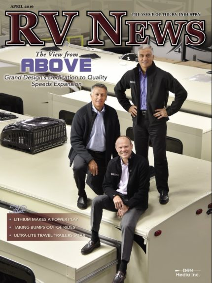 RV News Magazine April 2016 Front Cover