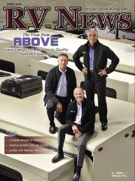 RV News Magazine April 2016 Front Cover