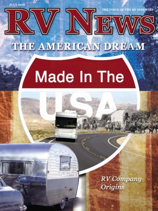 RV News Magazine July 2016 Front Cover