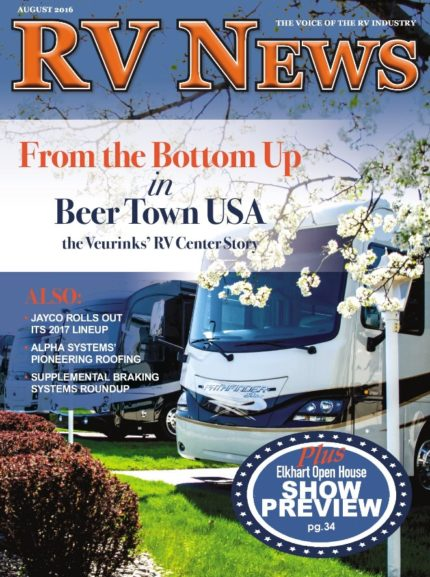 RV News Magazine August 2016 Front Cover