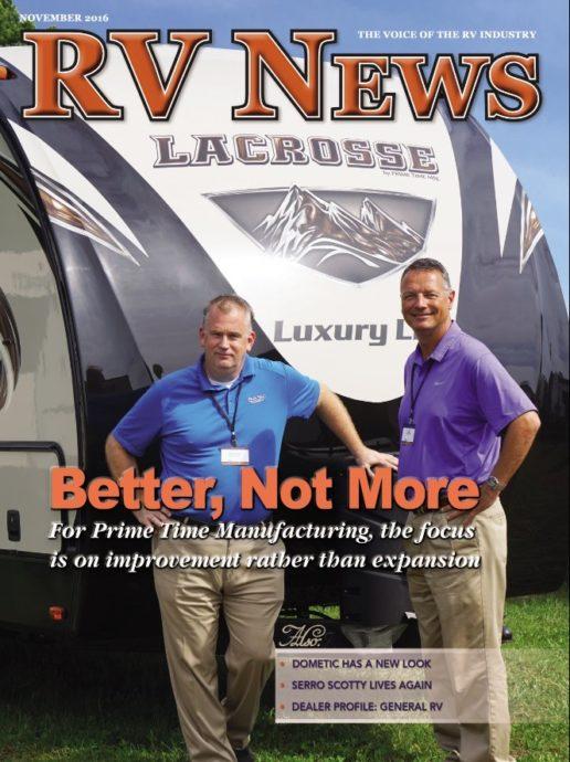 RV News Magazine November 2016 Front Cover