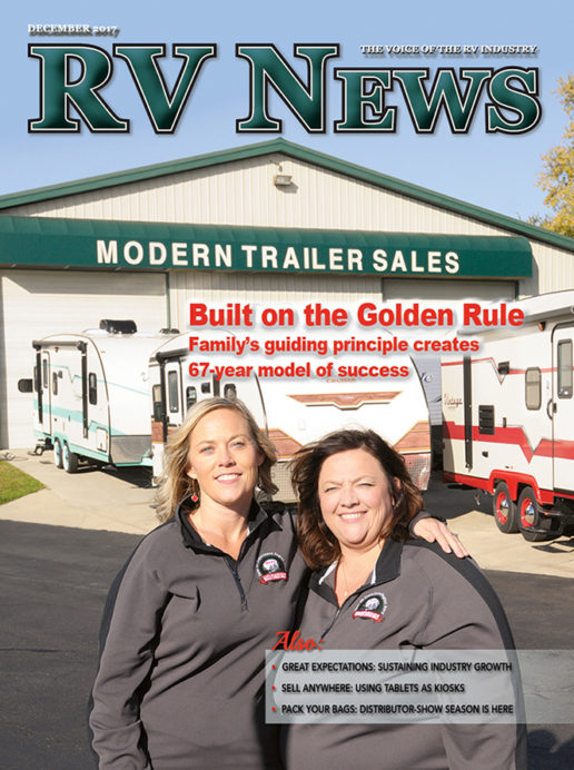 RV News Magazine December 2017 Front Cover