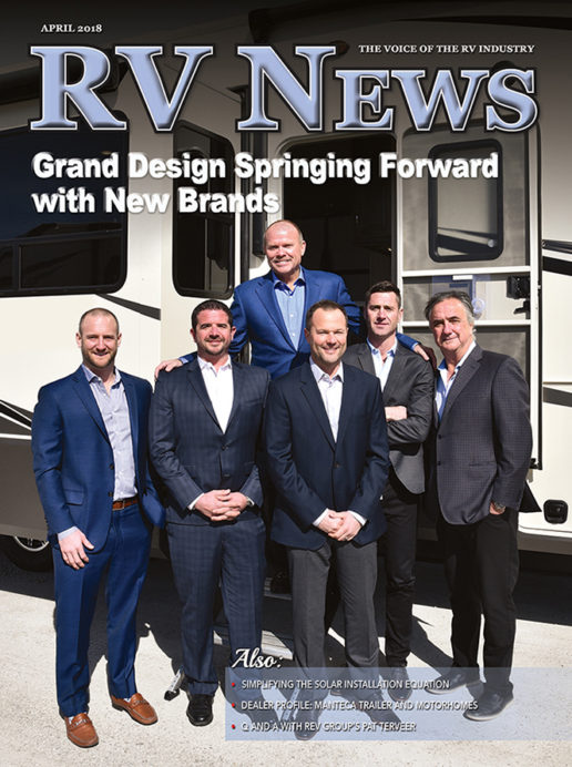 RV News Magazine April 2018 Front Cover