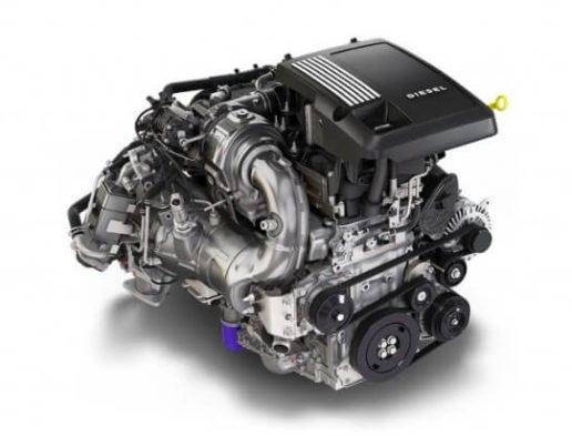 Photo of Duramax diesel engine.