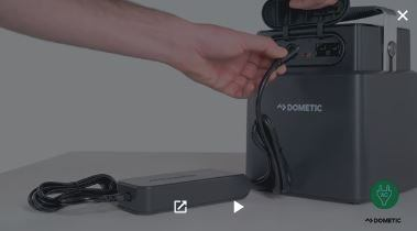 This is the intro picture of a video of Dometic's PLB40 battery