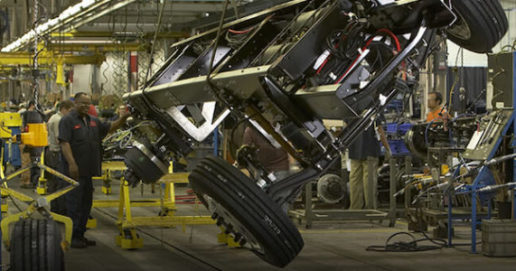 Photo of Freightliner Custom Chassis assembly line