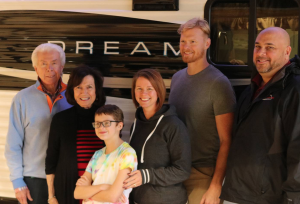 Child's wish being granted by Mount Comfort RV.
