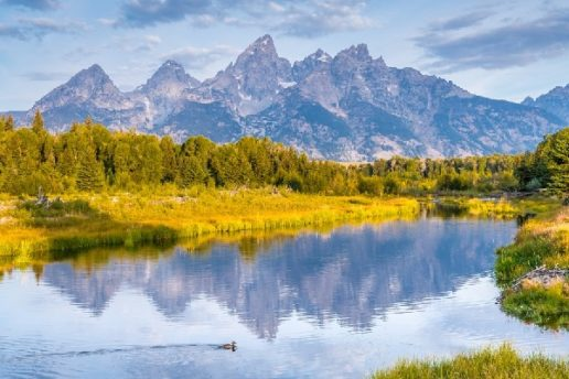 Mountains and water at Grand Tetons National Park