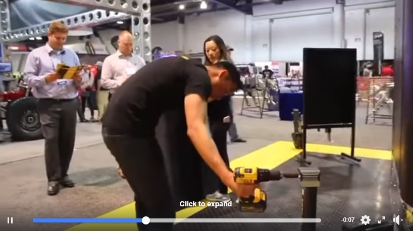 Video demo of Trailer Valet's new JX line of drill-powered tongue jacks.