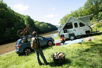 Aliner camper lifestyle photo