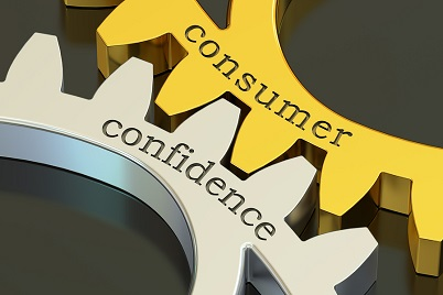 "a picture of two interlocking gears with the words ""consumer"" and ""confidence"" on them"