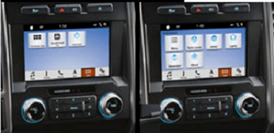 a picture of side-by-side control panels with touch screens, the Lippert OneControl