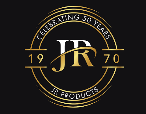 JR Products 50th Anniversary logo