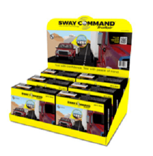 A picture of a retail display of Lippert's Sway Command