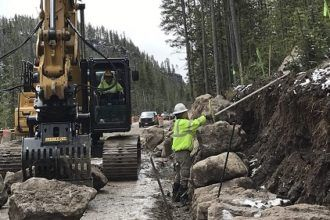 National Park road work