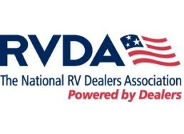 A picture of the logo for The National RV Dealers Association (RVDA)