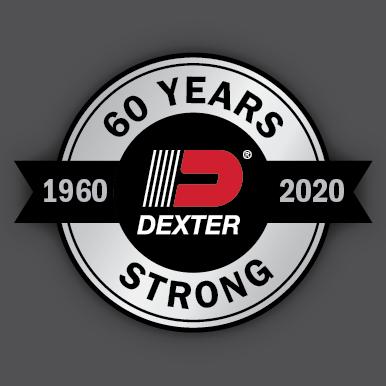Dexter Axle Anniversary logo