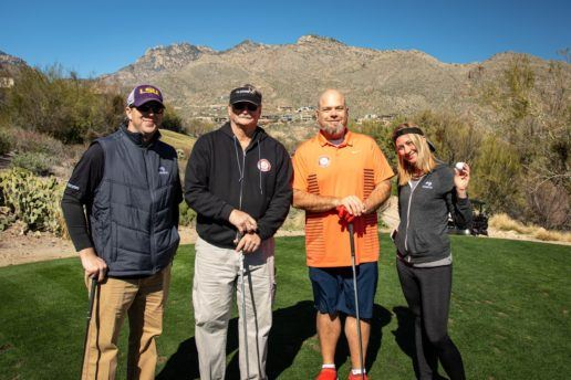 Attendees participate in a Dometic-hosted golf excursion.