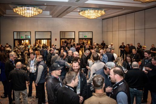 Attendees gather for a welcoming reception at the Loews Ventana Canyon Resort on the first evening of the Dometic in the Desert event in Tucson, Arizona.