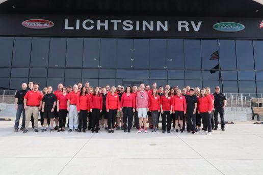 Lichtsinn RV staff at its Iowa dealership