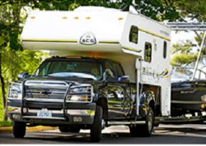 Torklift logo with truck camper