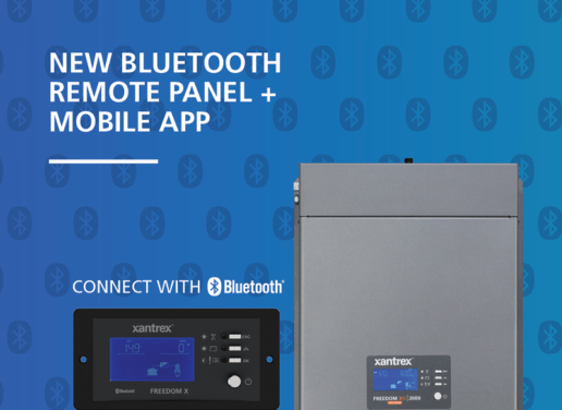 Photo of Xantrex Bluetooth panel and app