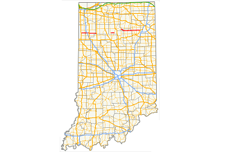 A road map for the state of Indiana