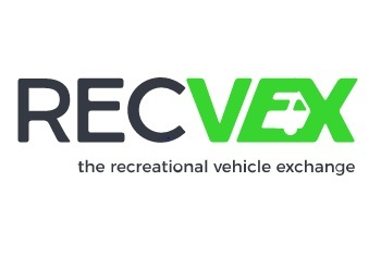 A picture of the logo for RECVEX, the recreational vehicle exchange