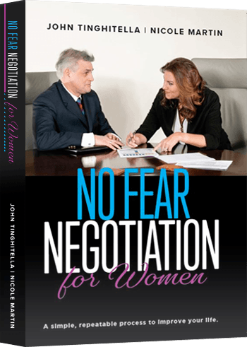 "A photo of the ""No Fear Negotiation"" book cover"