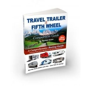 """A picture of a book entitled """"Travel Trailer and Fifth Wheel Comparison Guide"""""""
