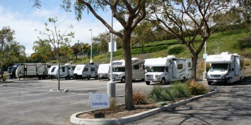 A photo of Kirby Auto Group RVs donated to Ventura County hospitals
