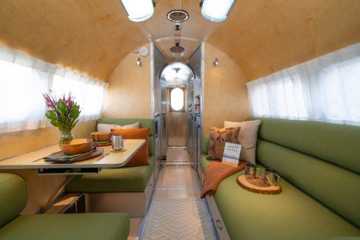 A photo of the interior of a new Bowlus RV