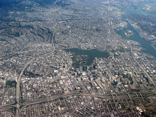 A photo of Oakland, CA from above