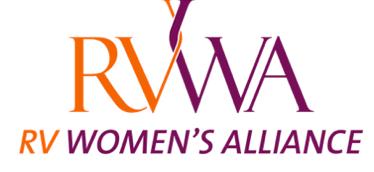A logo for the RV Women's Alliance
