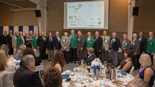 A photo of the RV/MH Hall of Fame induction dinner