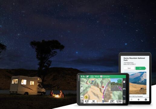 An image of the new Garmin RV890 navigation system