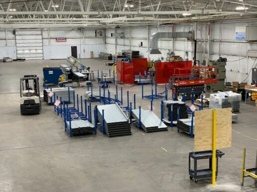 A photo of the interior of VersaTube's Elkhart plant