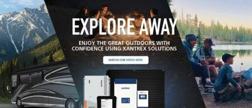 A promotional image for Xantrex RV new summer campaign