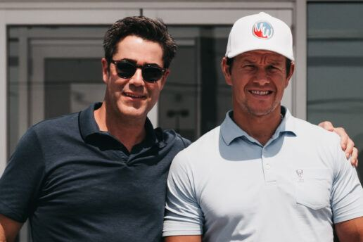 A photo of Mark Wahlberg and his dealer partner