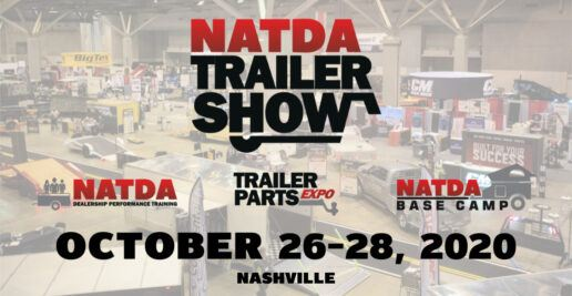 A graphic showing the NATDA Trailer Show Date Change