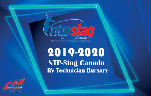 A picture advertising the 2019-2020 NTP-Stag RV Technician Bursary