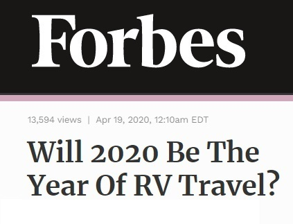 RV headline in Forbes