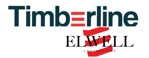 A logo for the timberline elwell heating system