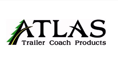 The logo for Atlas Trailer Coach Products