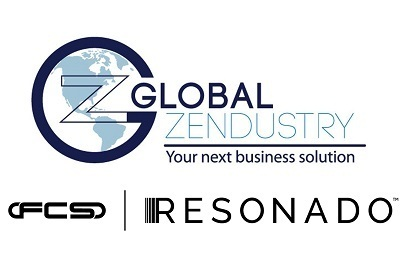 a picture of the logos for Global Zendustry and Resonado