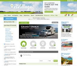 Screenshot of RVillage Grand Design Group Webpage Forum
