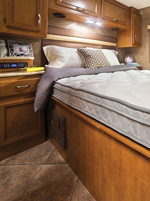 denver mattress in an rv interior