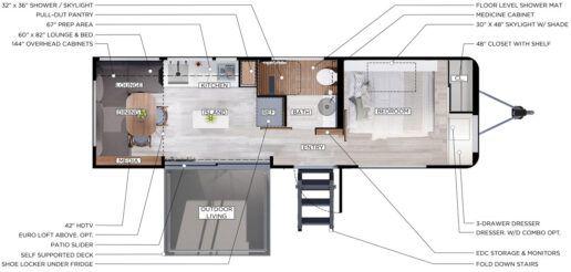 living vehicle floor plan