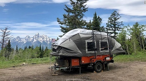 tent camper at grand tetons