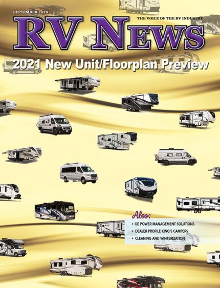 Picture of the front cover of the September 2020 edition of RV News Magazine